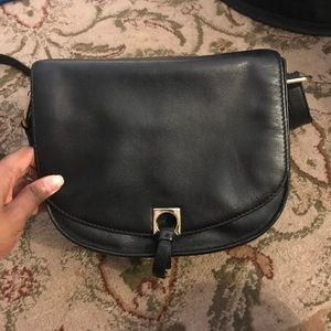 Ivanka Trump Saddle Bag Black Crossbody